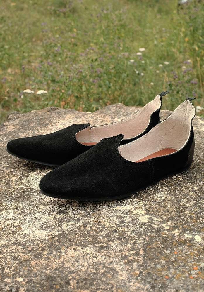 6a7086089abed Mittelalter Schuhe Echt Leder