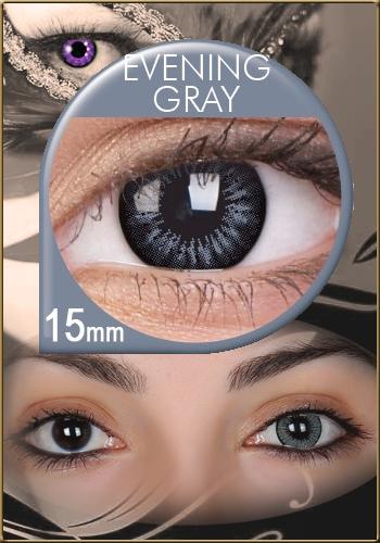 hohe Qualitätsgarantie Großhandelsverkauf 100% authentisch Evening Grey - Big Eyes Kontaktlinsen